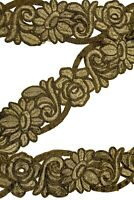 Vintage Antique Wide Sari Border Woven Indian 1 Yd Trim Craft Ribbon ST2505