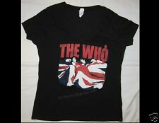 The Who Junior Size Xl Black V Neck T-Shirt