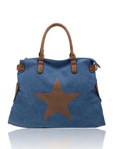 Women's Canvas Tote bag Travel Shoulder bag shopping messenger handbag