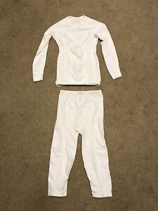 ODLO Evolution Thermo Base layer Top & 3/4 pants Set Women's Sz M