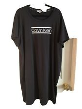 New CALVIN KLEIN T- shirt Dress Sexy Women`s Dress Black Size 2X