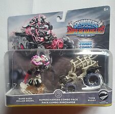 SKYLANDERS SUPERCHARGERS BONE BASH ROLLER BRAWL AND TOMB BUGGY COMBO PACK