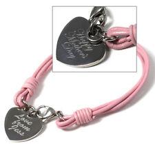 Modeschmuck-Armbänder aus Leder und Edelstahl mit Liebe- & Herzen