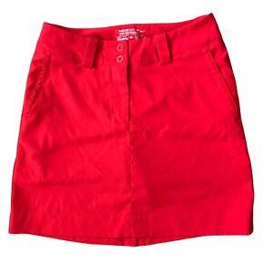 Nike Golf Tour Performance Skort Skirt Lined Size 0 Red Pockets Dri Fit EK138