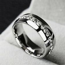 Diamant-Ring-Edelstahl für Männer u. Frauen-Art- und Weisepaar-Ring WRDE