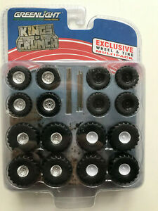 King Of Crunch Wheels And Tyre Set For Greenlight Car Models 1:64
