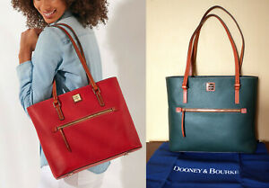$ 278 Dooney & Bourke Pebble Grain Leather Large Green Forest Shopper Tote Bag
