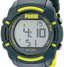 PRE-OWNED $75 PUMA Men's Bytes Digital Display Watch PU911221003 WITH DEFECT