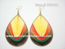 Wholesale of 12 pairs Rastafarian Thread earring Assorted Styles Large Size