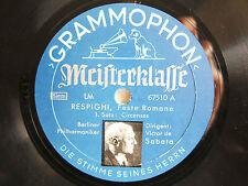 4x 78rpm VICTOR DE SABATA cond. RESPIGHI FESTE ROMANE - Orig. German Grammophon