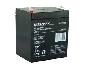ULTRAMAX 12V 5.0ah (replaces all 4ah & 4.5ah) - Brand New - Cube Shape battery