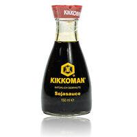 Kikkoman - Natürlich gebraute Sojasauce japanisch 150ml Tischflasche (Ausgießer)