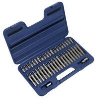 "Sealey Torx Star Spline Hex Socket Bit Set 3/8"" 1/2"" Drive With Case AK219"
