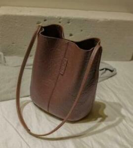 US Women Shoulder Bag Tote Dark Brown Handbag Bucket Leather Messenger Crossbody