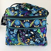 Vera Bradley Iconic Weekender Travel Bag Carry-on Trolley Sleeve Midnight Blues