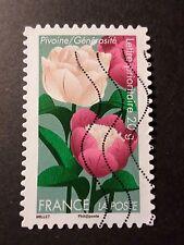 FRANCE 2012, timbre AUTOADHESIF 666 FLEURS PIVOINE  oblitéré FLORA FLOWERS