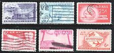 Scott C42-C47 Used Airmail, 1949-1953 Stamps