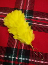 Tc Amarillo Feather Hackle Plume Glengarry cap/balmoral Sombreros Feather Hackle 5.5 ""