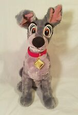 Disney Store Tramp -  Lady And The Tramp Dog Plush Gray 15""