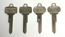 (Set/4) 2 Ignition & 2 Trunk Lock Blank Pony Keys For 1965-1966 Ford Mustang