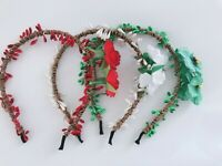 Women Girls Flower Vine Boho Woodland Rustic Wedding hair headband band hoop