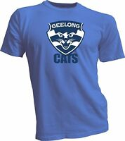 Geelong Cats Australian Rules Football Club Blue T-Shirt NEW australia handmade