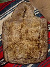 BESSO Brown Faux Fur Hippie Boho Handbag Purse Tote w  Faux Fur Handles 83a96c848da14