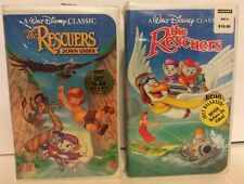 The Rescuers & Down Under Lot of 2 Disney Rare Black Diamond VHS Sealed New