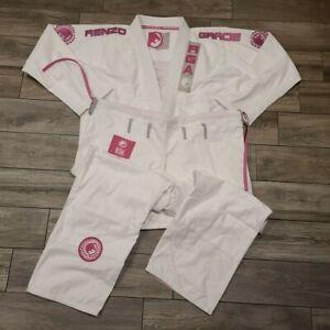 Team Renzo Gracie Brazilian Jiu Jitsu Womens Gi Kimono Pink RGA Embroidered W5
