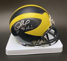Desmond Howard SIGNED Michigan Wolverines Mini Helmet Heisma PSA/DNA AUTOGRAPHED