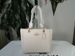 NWT Coach Pebbled Leather Jes Tote 76701 Chalk