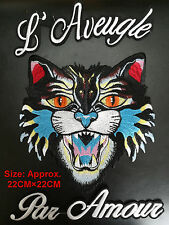 LOT 3pcs/set TIGER CAT HEAD Embroidered Large Patch Fashion Sew on Applique DIY