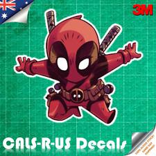 Deadpool Attack Cartoon Sketch Decal Sticker Car Luggage. 3M Film. 100mm