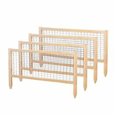 Garden Fence Cedar Wood Critter Guard Fence Panels Outdoor Vegetable Herb Patch