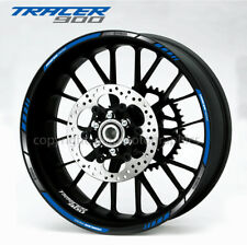 Tracer 900 motorcycle wheel decals stickers rim stripes Laminated mt09 blue
