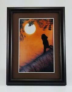 Sunset Painting Welcome Home on the Hillside by Jason Girard with mat and frame