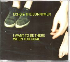 ECHO & THE BUNNYMEN - I WANT TO BE THERE WHEN YOU COME- 3 TRACK CD SINGLE - MINT