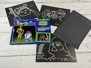 Lite Brite Star Wars Picture Refill Sheets Open Package 11 Unpunched 8 Blanks