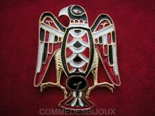 "Broche ""Aigle Royal"" Rouge Noir By FRIED Grand Rapace - Bijoux pur Collection"