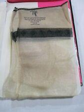 1Pr Vintage McCallum Rt Sheer Heel Sheer Nylon Stockings Size 10 1/2 Sparkle Bei