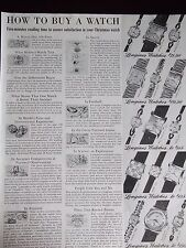 1951 Longines Watches 15 Models Named And How To Buy A Watch Guide Advertisement