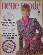 Neue Mode 1971/08 w/Burda Chanel-Stil Strick hot pants 70er J. Modezeitschrift