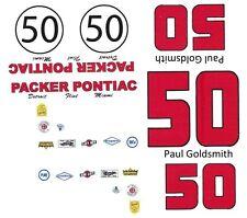 #50 Paul Goldsmith Packer Pontiac 1963 1/64th Ho Scale Slot Car Decals