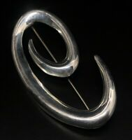 Vintage Sterling Silver Brooch Pin 925 Modernist Taxco Mexico