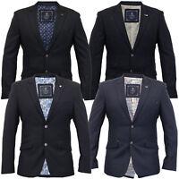mens blazer Cavani coat dinner suit slim fit jacket tweed formal wedding lined