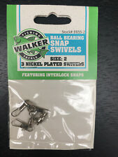 Walker Nickel Plated Interlock Ball Bearing Snap Swivels Size 2 Bbss-2 468 ct