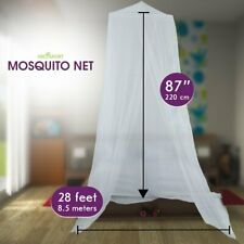 Abco Tech Mosquito Net Netting Canopy Indoors & Outdoors Fits Beds Cribs Conical