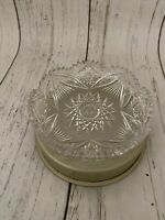 """Vintage Waterford Crystal Cigar Ashtray/candy Dish Star Patterned 8"""""""