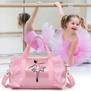 Girls Kids Pink Shoulder bag Gymnastic Ballet Latin Handbag Tutu Dress Dance Bag