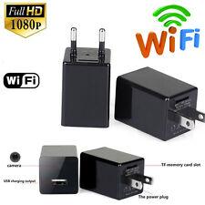16GB H.264 HD 1080P WIFI SPY Hidden Wall Phone Charger Camera AC Adapter Plug DV